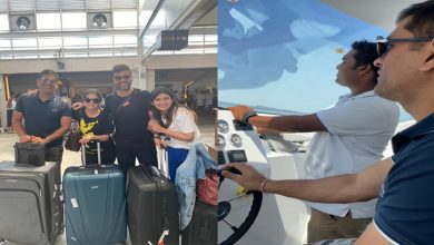 Photo of Dhoni enjoys vacation in Maldives: Video of Dhoni driving a speedboat  goes viral : watch it